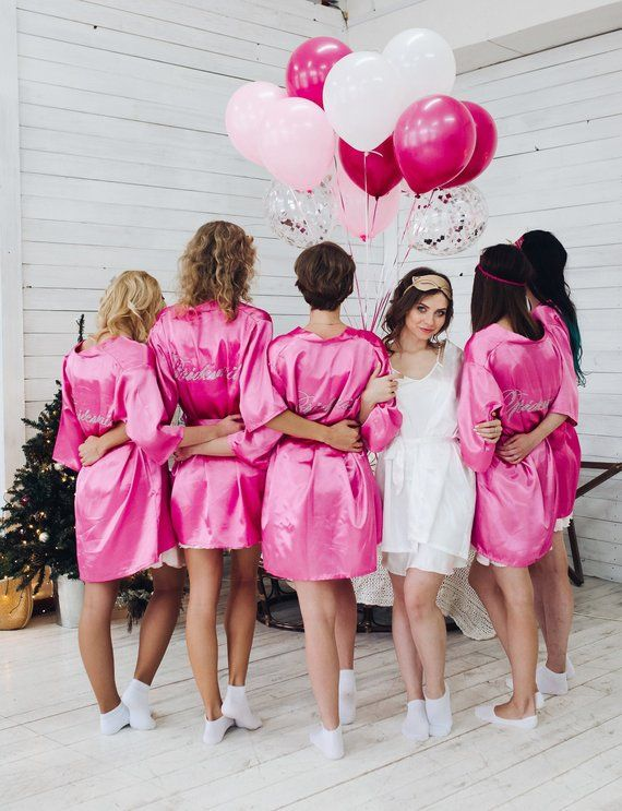 PERSONALIZED Bridesmaid Robes, Custom Robes, Bridal Robes, Bridesmaid Robes, Satin Robes, Wedding Robes, Kimono Robes, Bridal Party Gifts