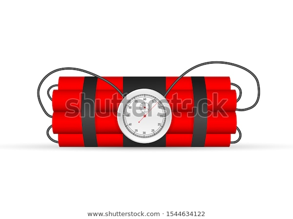 Explosion Countdown Tnt Time Bomb Timebomb Stock Vector Royalty Free 1544634122 Bombs Countdown Stock Vector