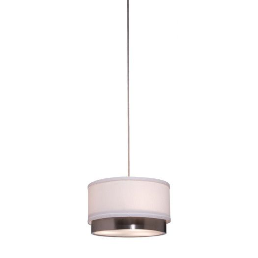 Artcraft Lighting Scandia 1 Light Rod Pendant Modern Drum Pendant Light Brushed Nickel Pendant Lights Brushed Nickel Floor Lamp