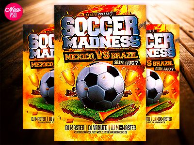 Soccer Flyer Template Psd Flyer Template