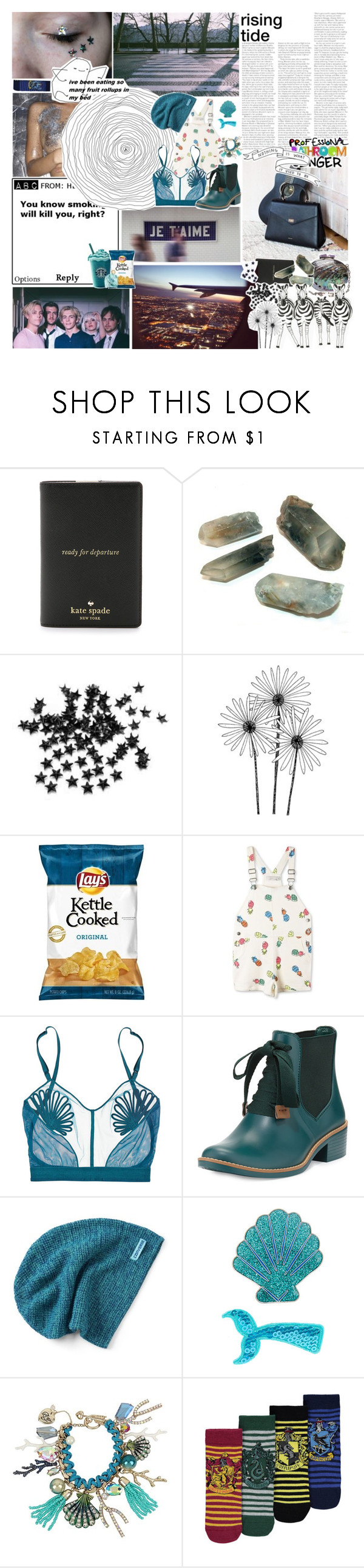 """""""♡ and i'm a-hopin' for raleigh, i can see my baby tonight"""" by nervous-touch ❤ liked on Polyvore featuring Kate Spade, INC International Concepts, Nokia, STELLA McCARTNEY, La Perla, Bernardo, Converse, claire's, Betsey Johnson and George"""