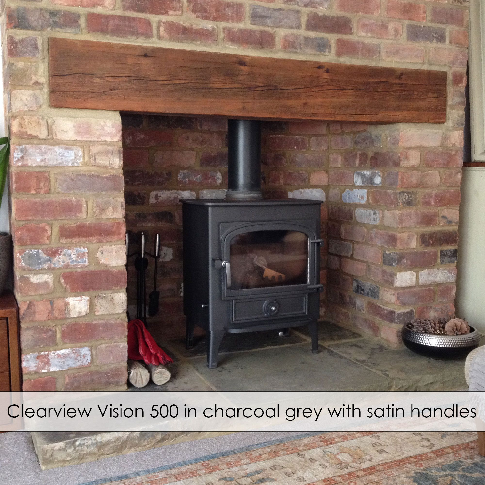 Flat Top Stove Prices Clearview Stoves Vision 500 Multi Fuel Flat Top Stove With Free