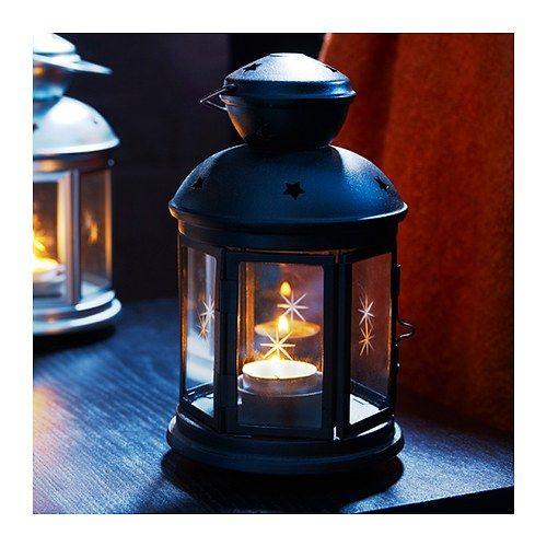 Outdoor String Lights Ikea Uk: ROTERA Lantern For Tealight, Black Indoor/outdoor Black