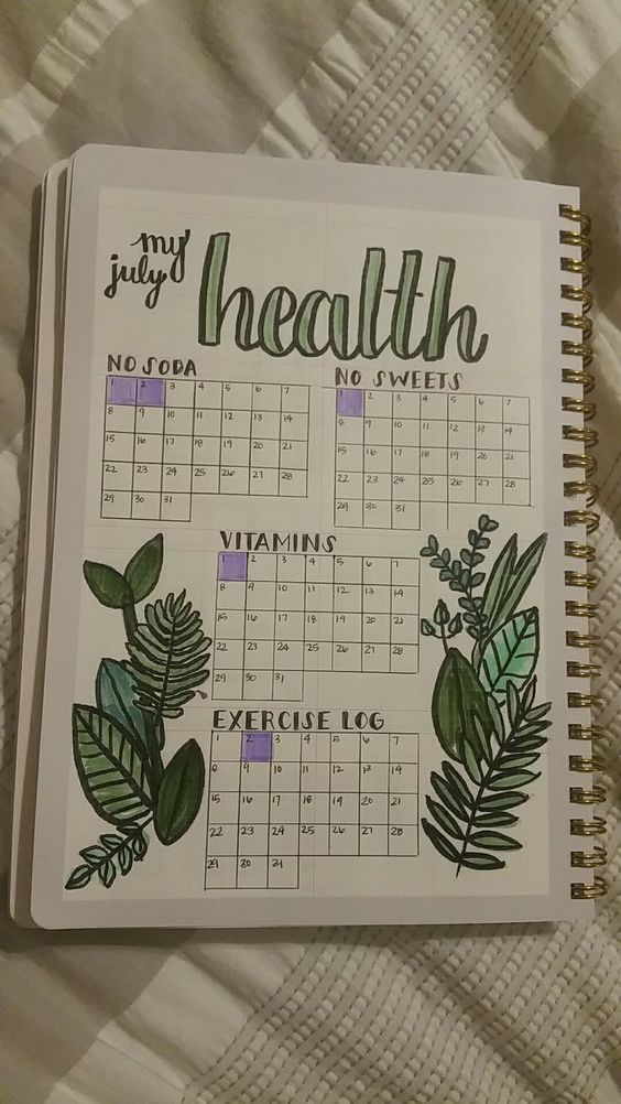 Bullet Journal Fitness Trackers ·