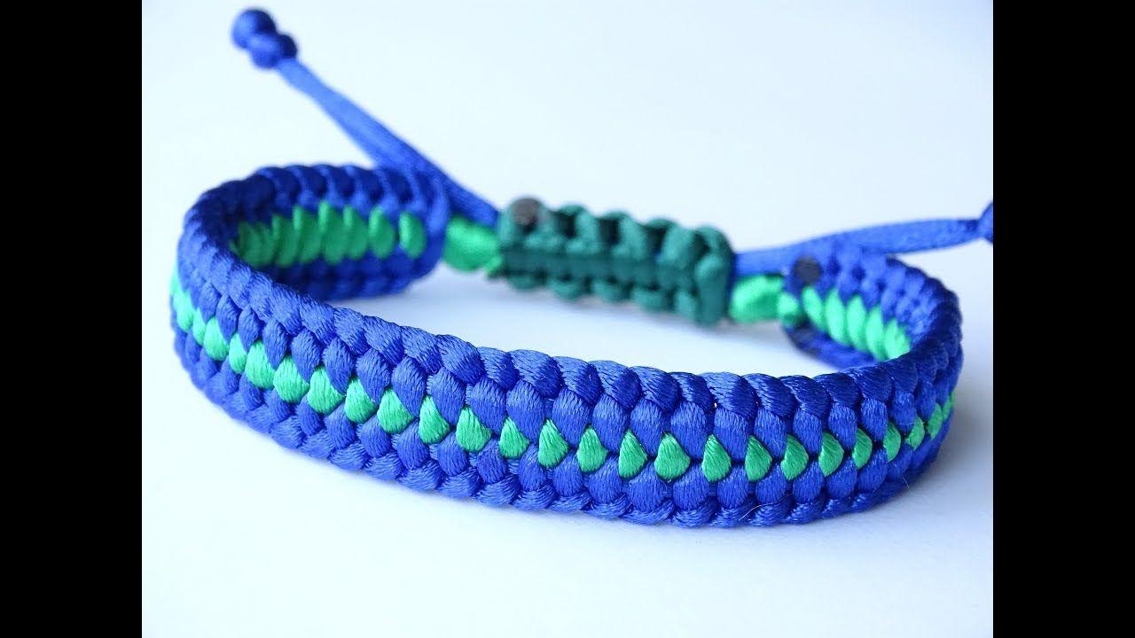 Diy Macrame Style Bracelet Mated Half Hitch Square Cobra Knot