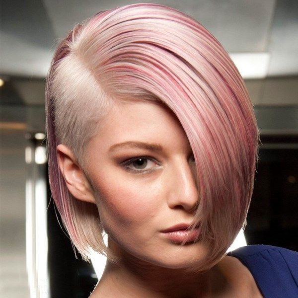 Bob Haircut With Shaved Side Hair Hairstyle
