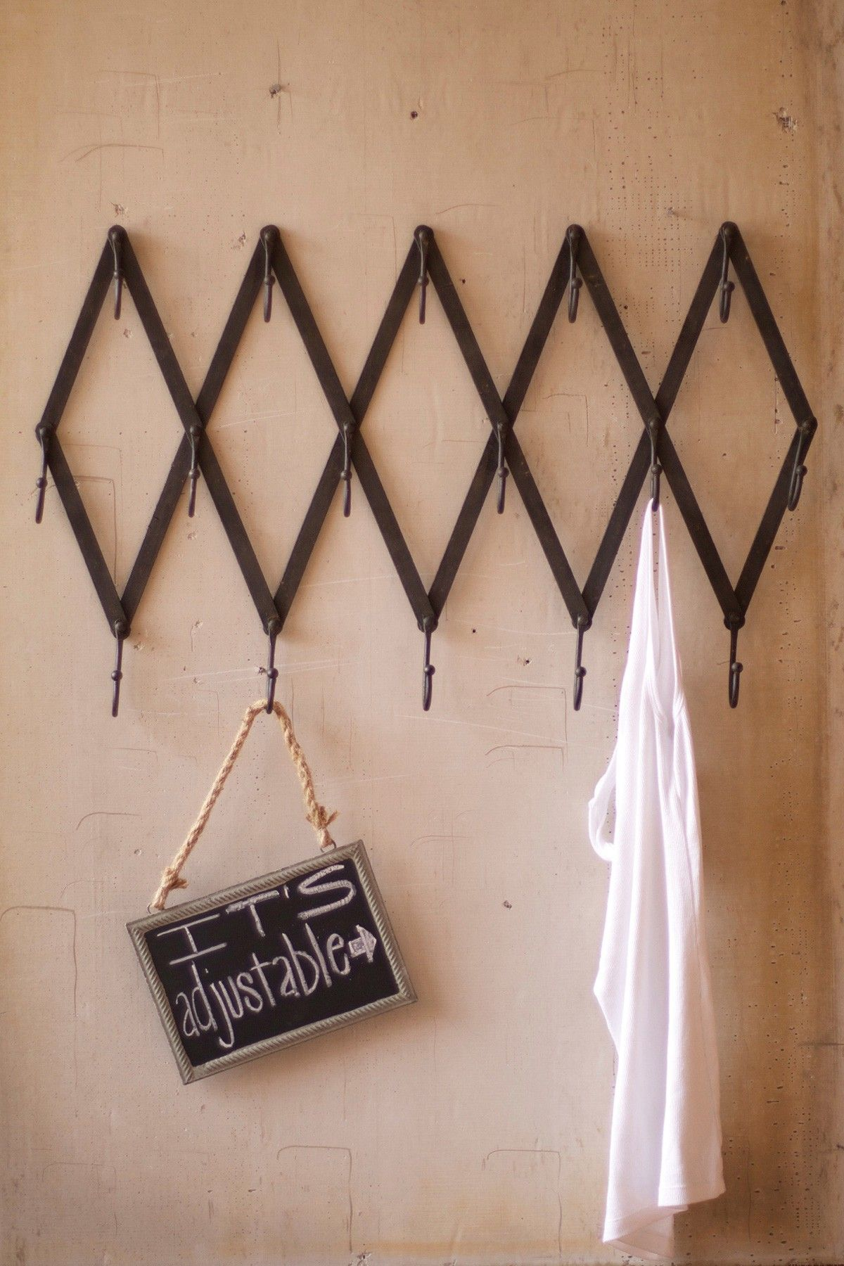 Iron scissor coat rack Iron scissor coat