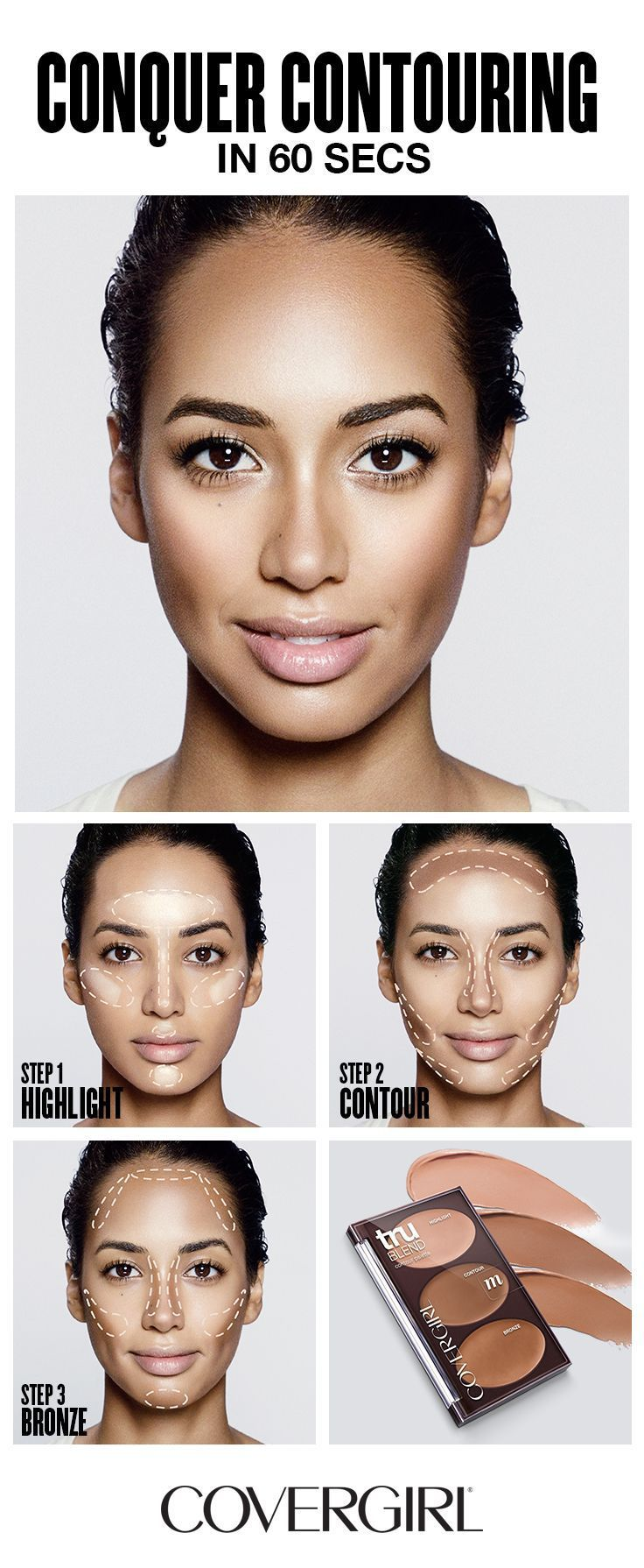 Photo of COVERGIRL shows you how to contour your face in 60 seconds! Follow COVERGIRL'S…