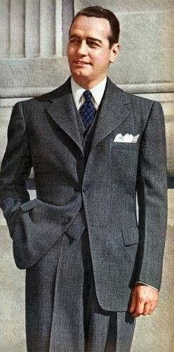 1940s Men's Fashion Clothing Styles | Suit fashion, Single ...