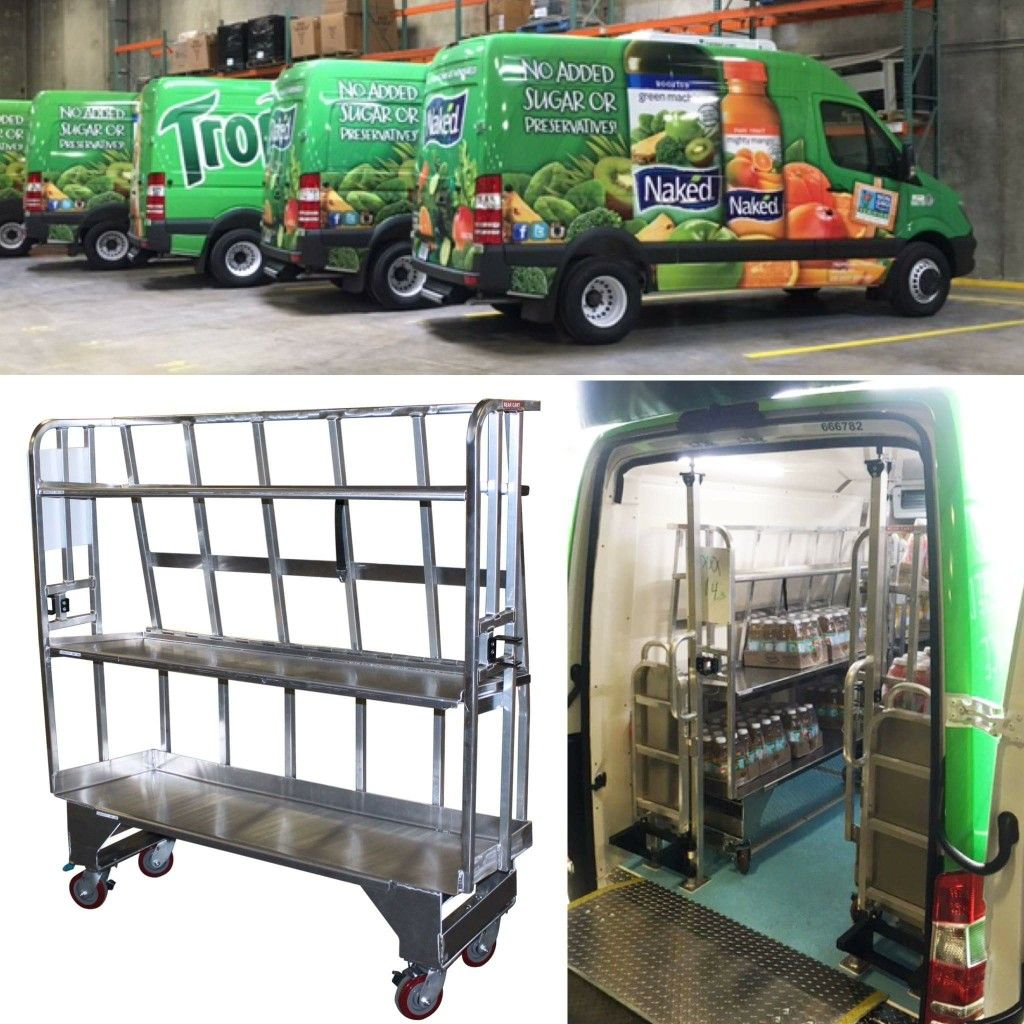 Pepsico Tropicana Sprinter Refrigerated Food Service Cargo Delivery Vans Equipped With Product Carts That Increa City Farm Refrigerated Foods Sustainable Food