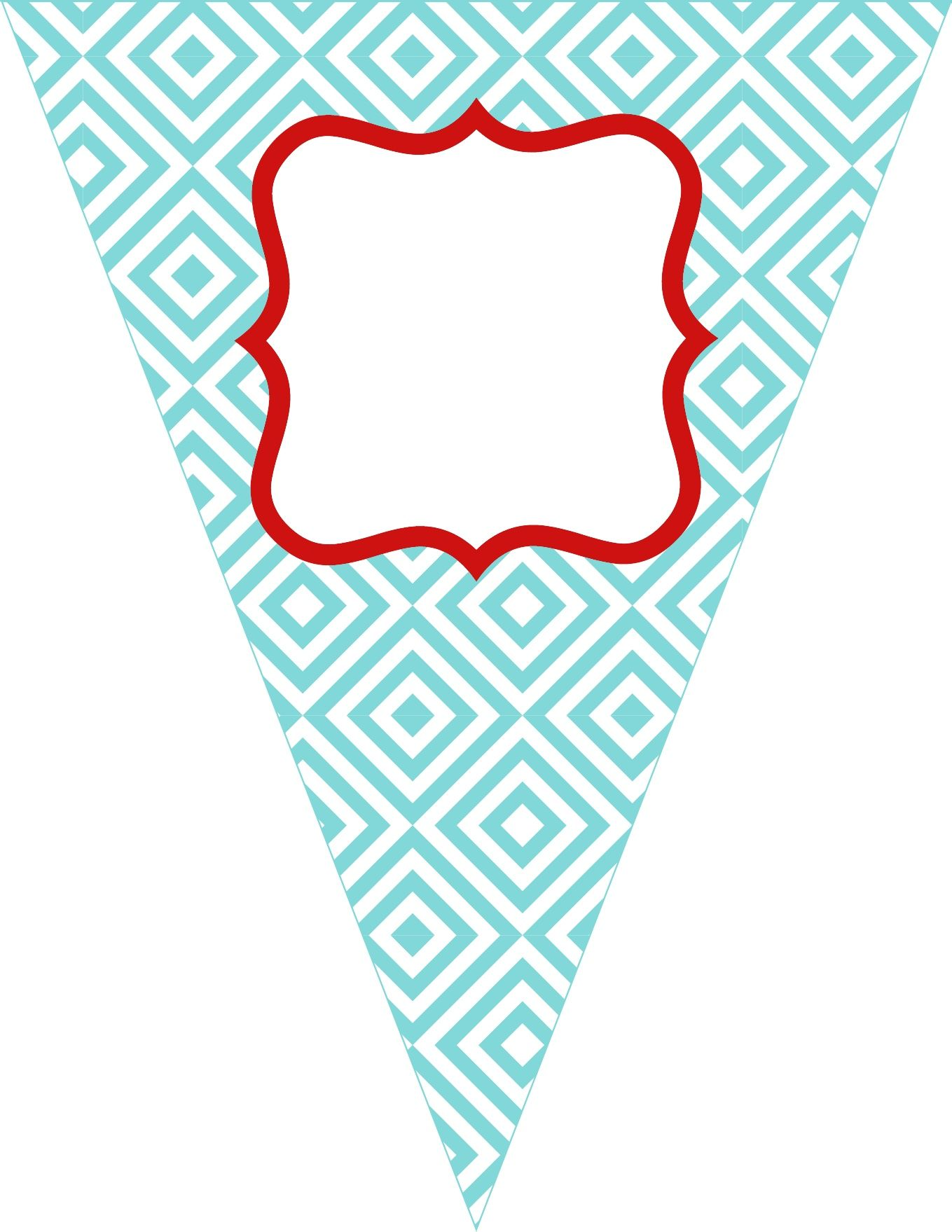 free printable bunting  love these colors  the colors i