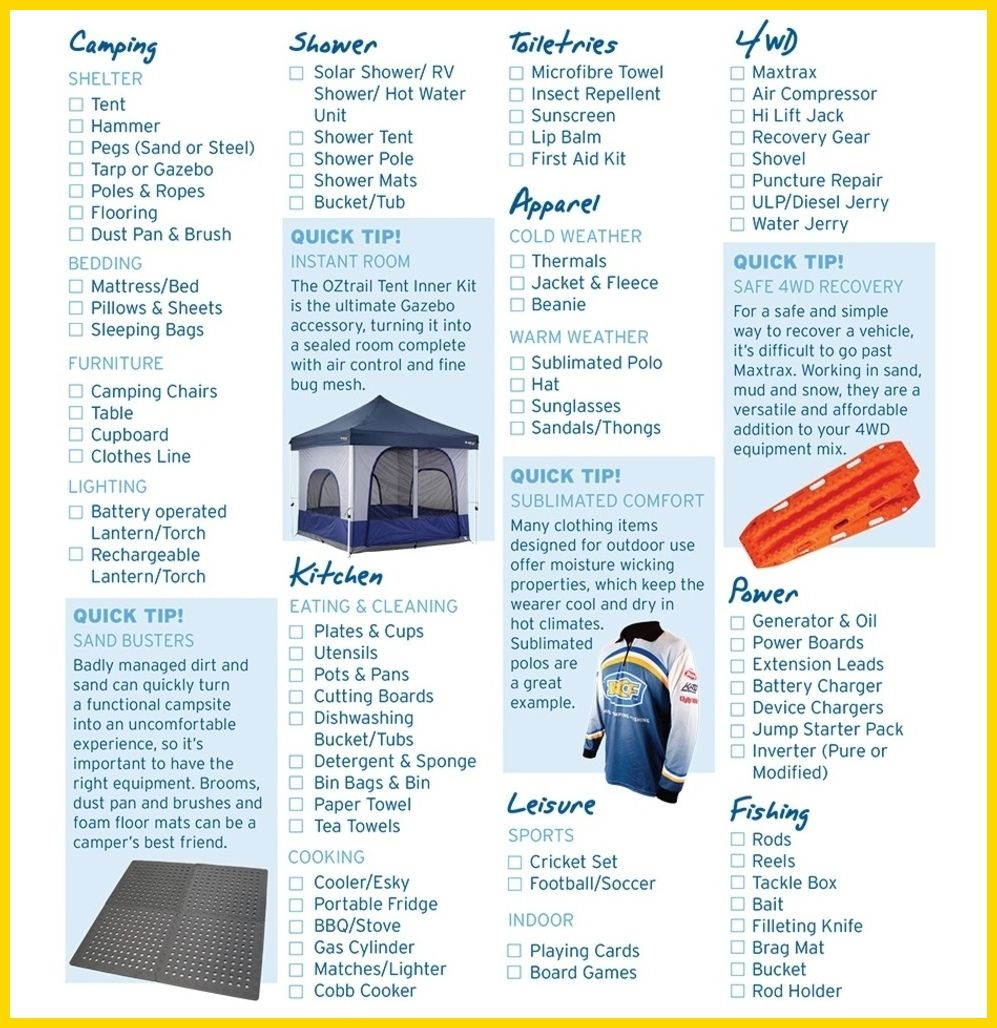 Camping Checklist  Form Your Camping Checklist  More Details