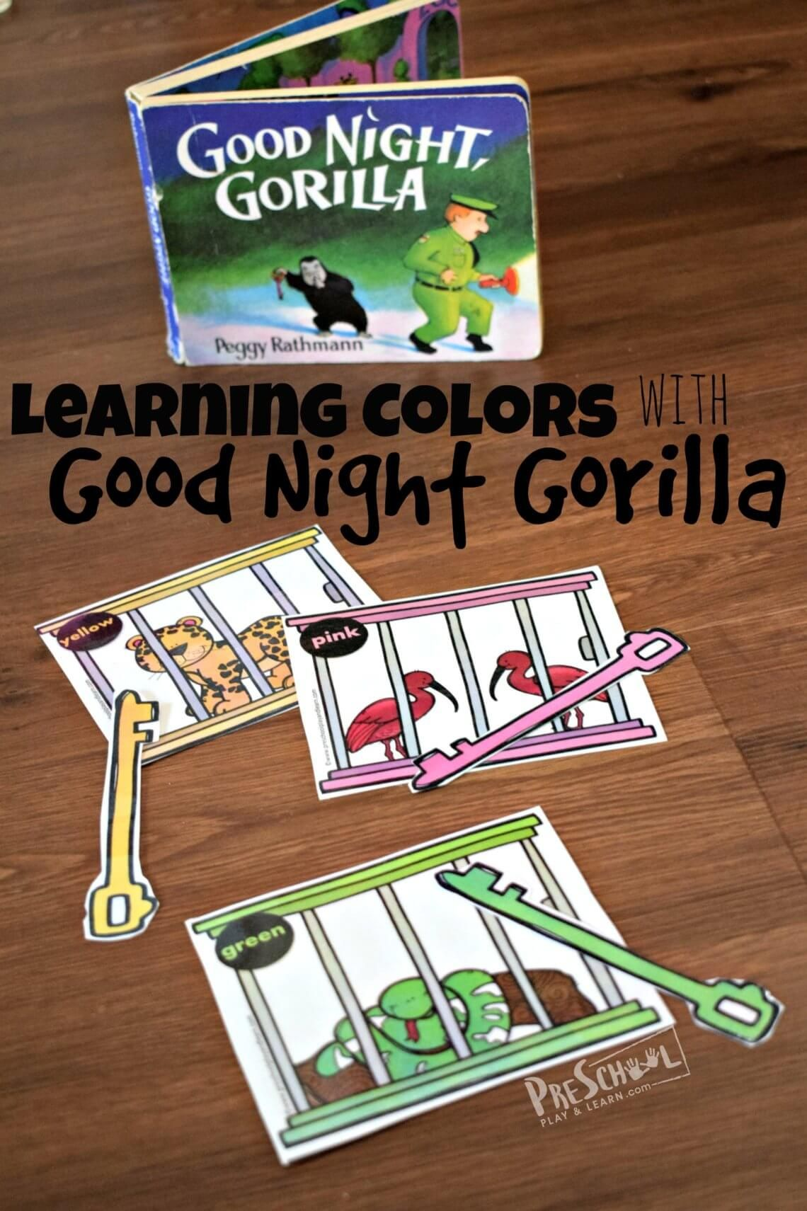 Free Learning Colors With Goodnight Gorilla