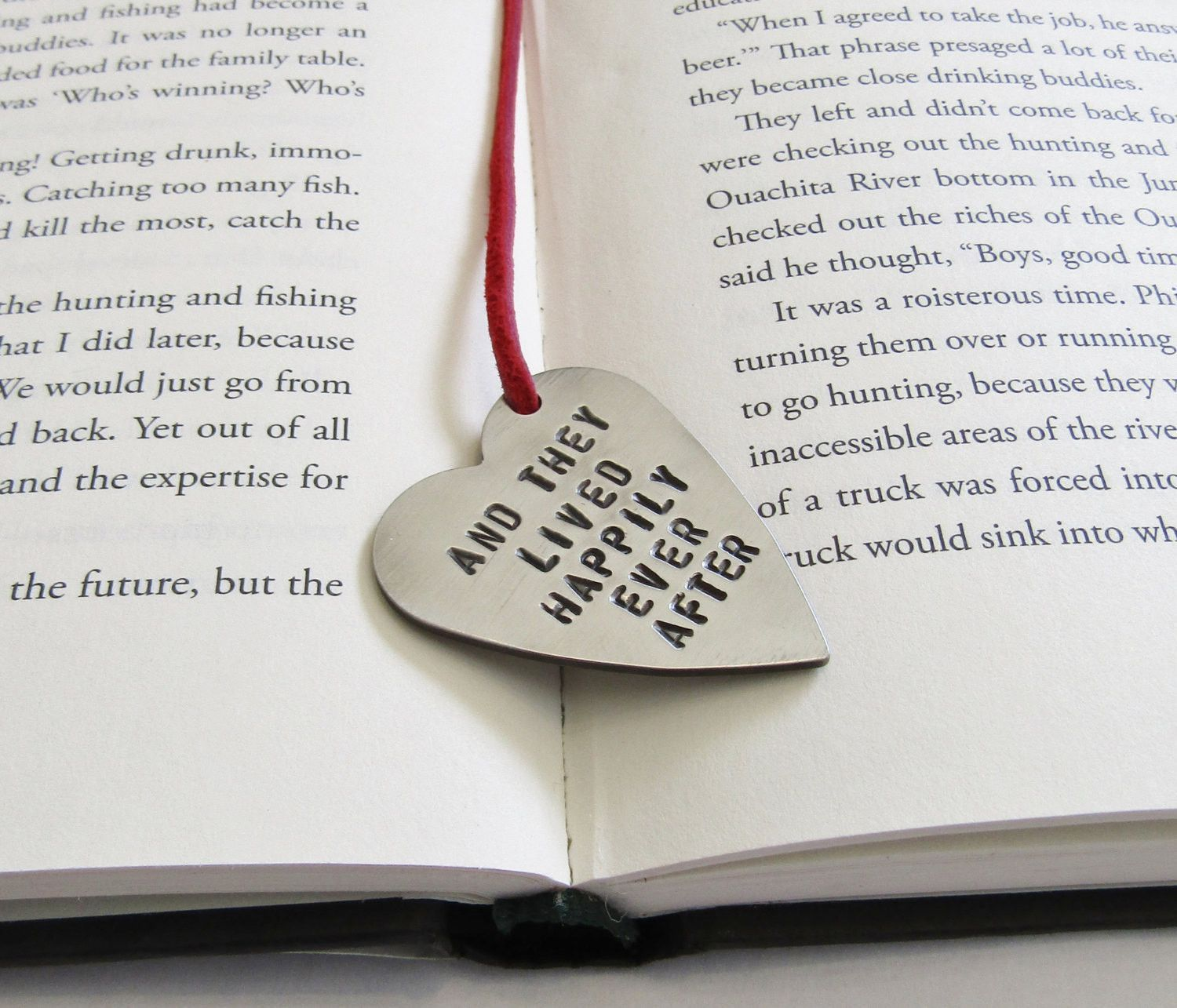 Fairy Tale Wedding Bookmark for Her Baby Shower Gift And They Lived ...