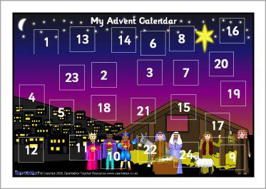 Make Your Own A4 Advent Calendar 2 Sb1868 Sparklebox Advent
