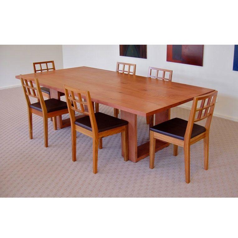 Open frame base dining table by anton gerner in tasmanian