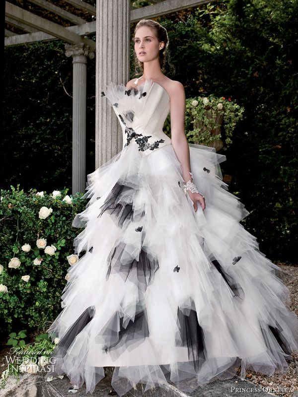1000  images about black wedding dresses on Pinterest - Strapless ...