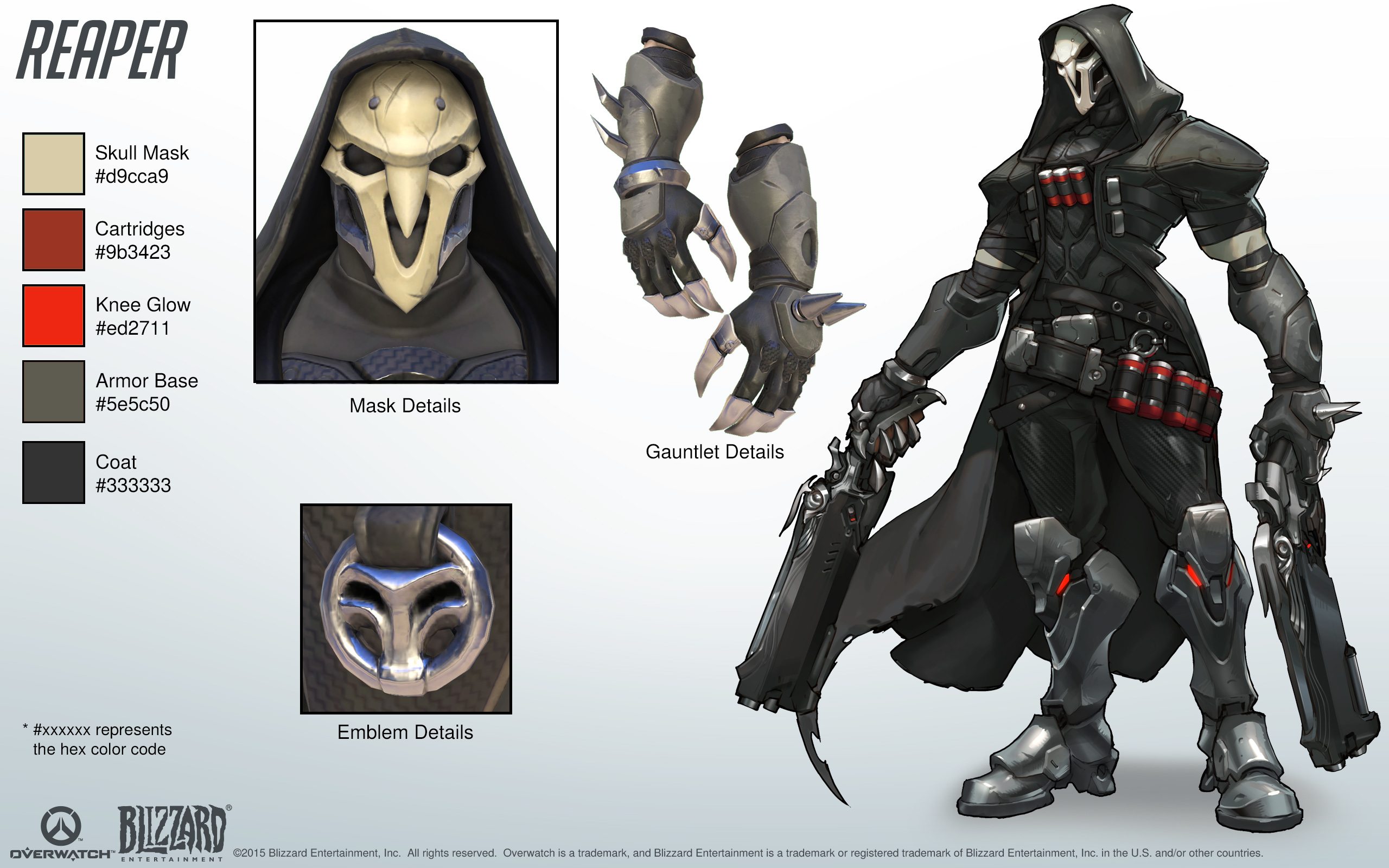 reaper cosplay reference guide 1 overwatch art reference inspo