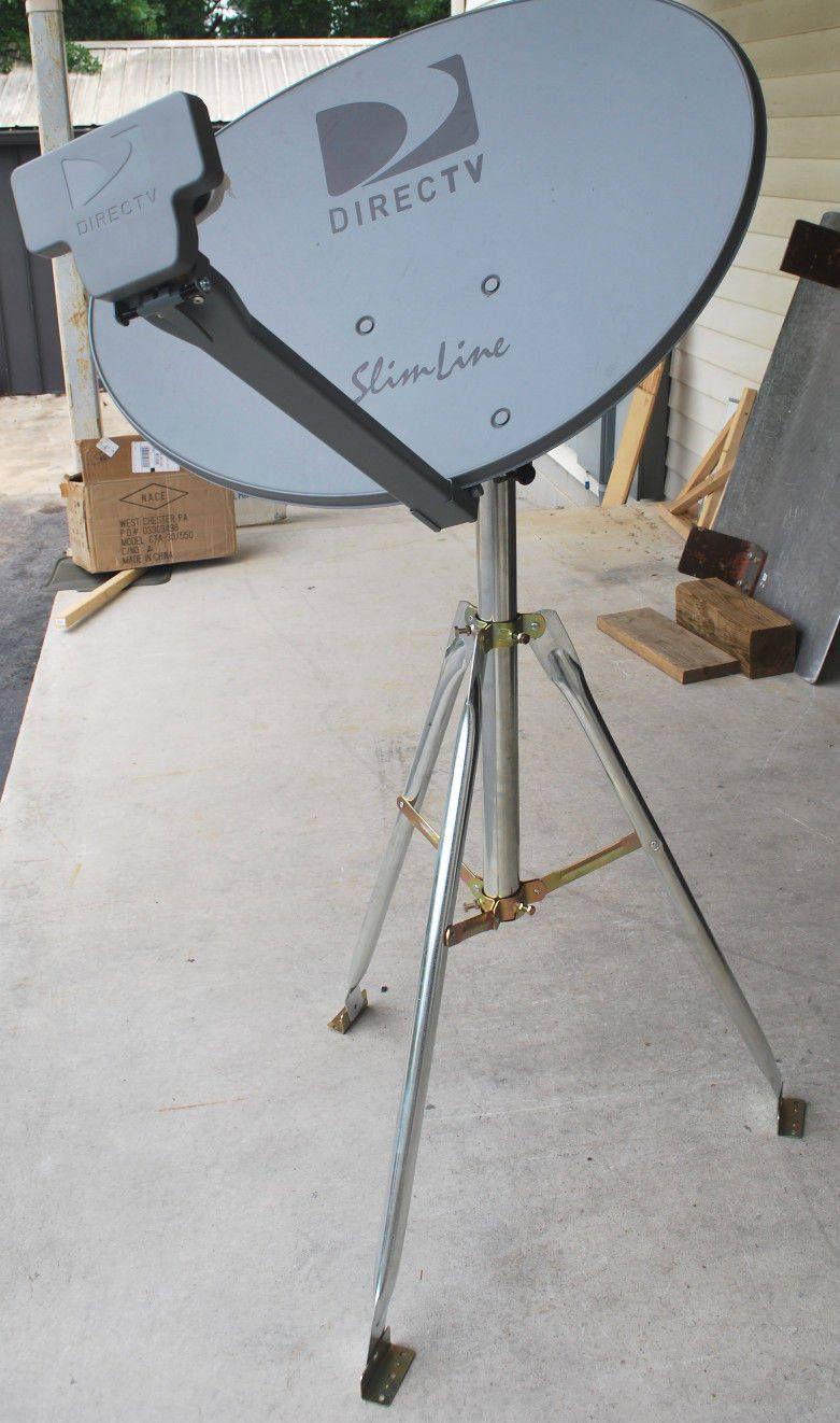 Directv 3lnb Slimline Dish Kaku Sl3 4 Output Hd Rv 3 Tripod Tailgating Kit By Solenico On Etsy Directv Television Antenna Tv Services