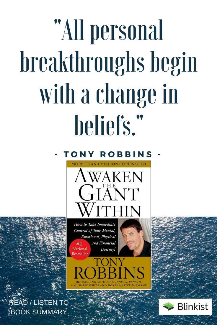 Self Help Quotes Tony Robbins Quote  Awaken The Giant Within Quotes  Author