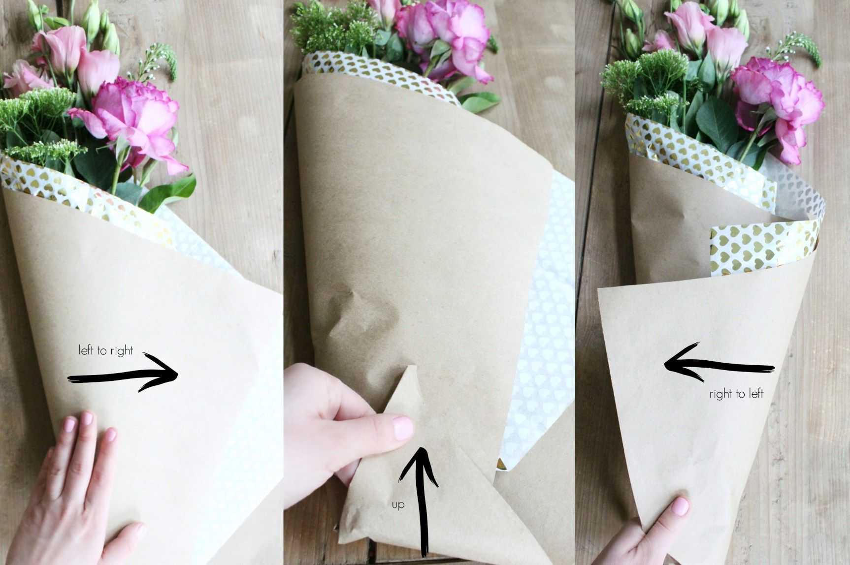 DIY Paper Wrapped Bouquet DIY and crafts Wrap flowers