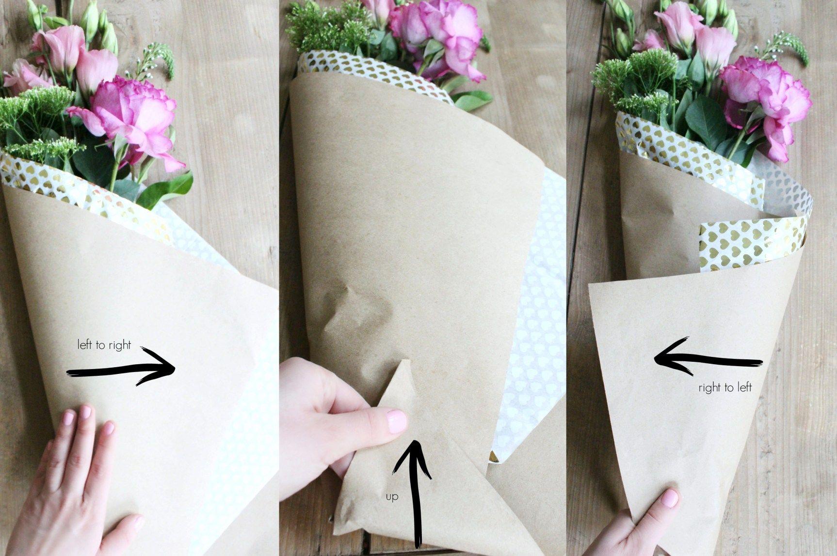 Diy Paper Wrapped Bouquet Flower Bouquet Diy Paper Flower