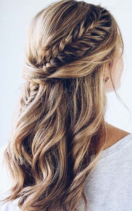63 Stunning Prom Hair Ideas For 2020 Page 4 Of 6 Stayglam In 2020 Fishtail Braid Hairstyles Fishtail Hairstyles Hair Styles