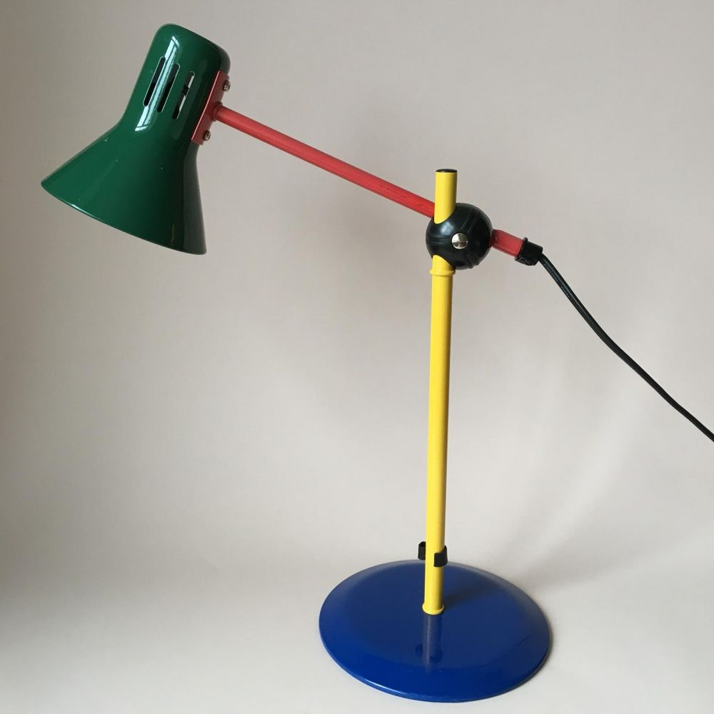 Modern italian primary colours desk lamp by veneta lumi in