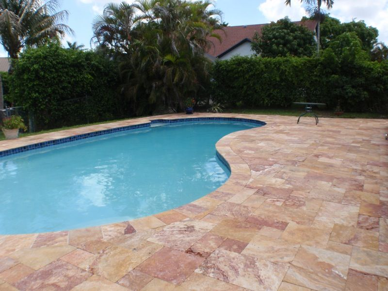 Marble Pool Decks Pleasing Walnut Travertine Pavers Pool Deck Sealer Patterns  Glorema