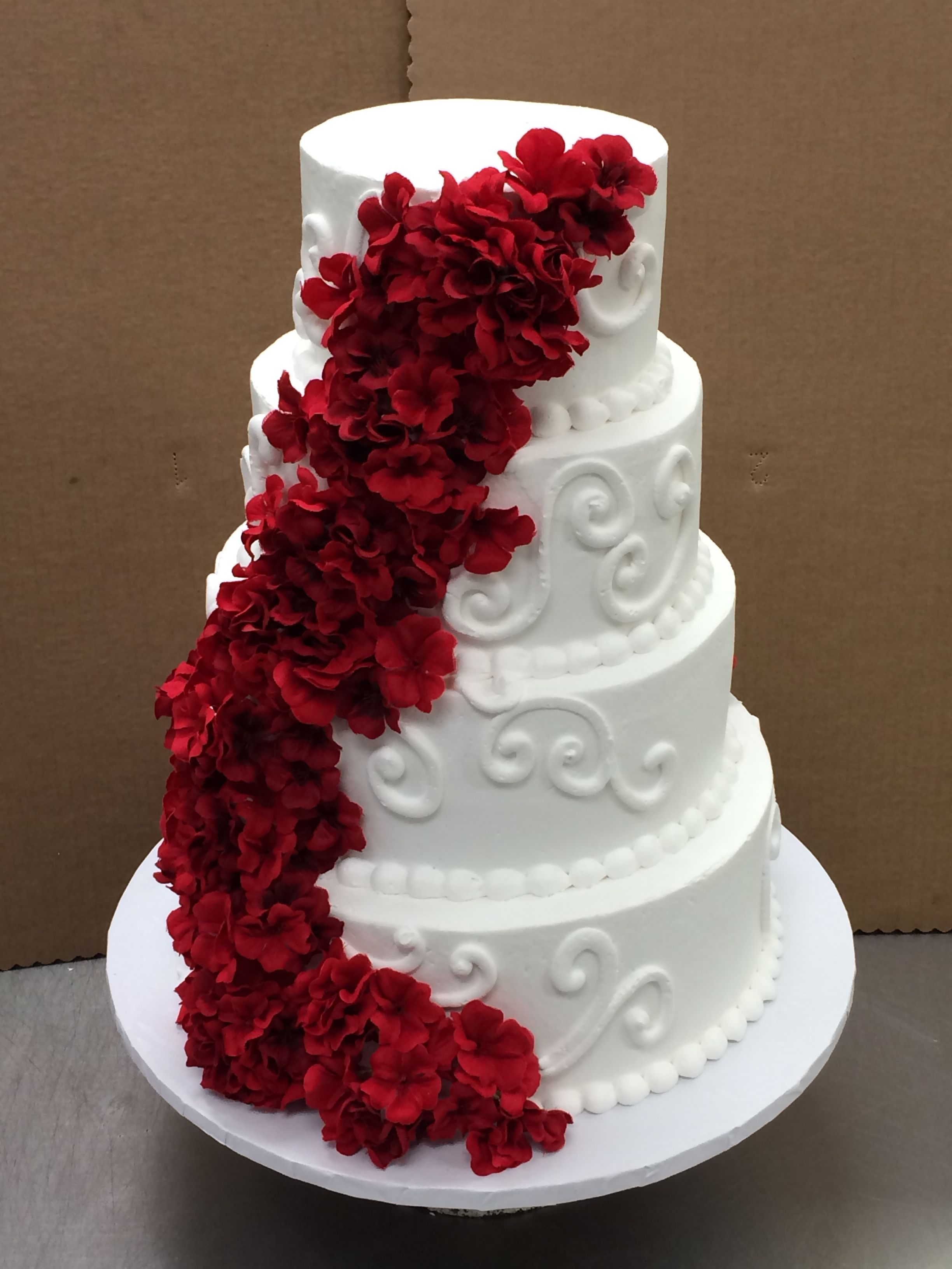 Ombre Coral Wedding Cake by Stephanie Dillon LS1 Hy Vee Bakery