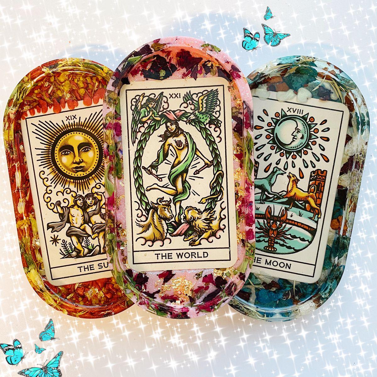 Photo of Tarot Card Trinket Trays ✨