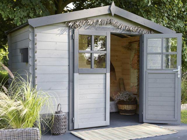 abri de jardin en bois gris abris de jardin pinterest bois gris abris de jardin et. Black Bedroom Furniture Sets. Home Design Ideas