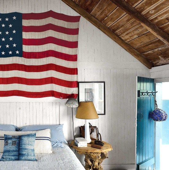 Patriotic bedroom Flag Wall Decor