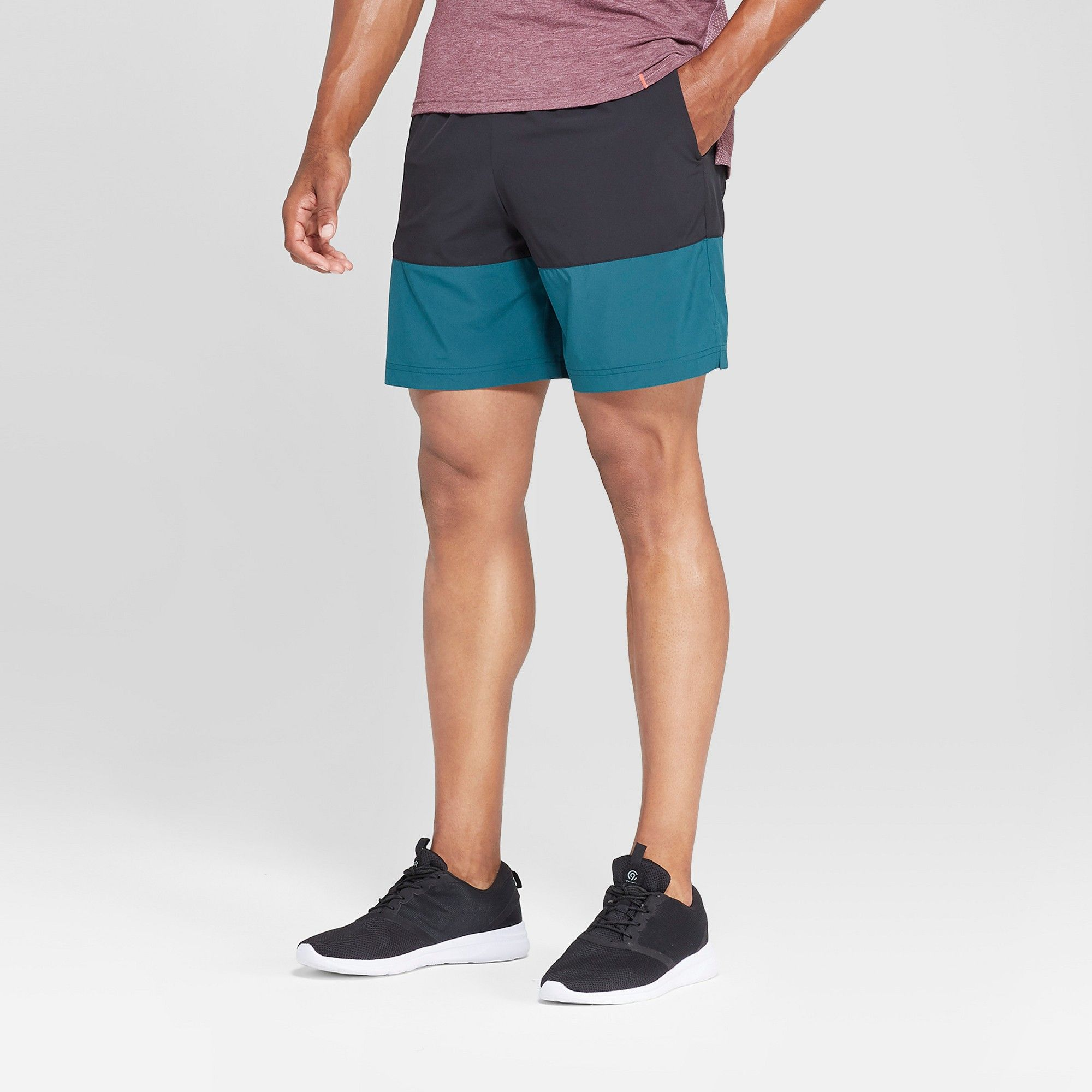 5a1d2edebc1 The Men s 7 Woven Run Short from C9 Champion features a comfortable elastic  drawstring waistband to help stay put during any type of run.