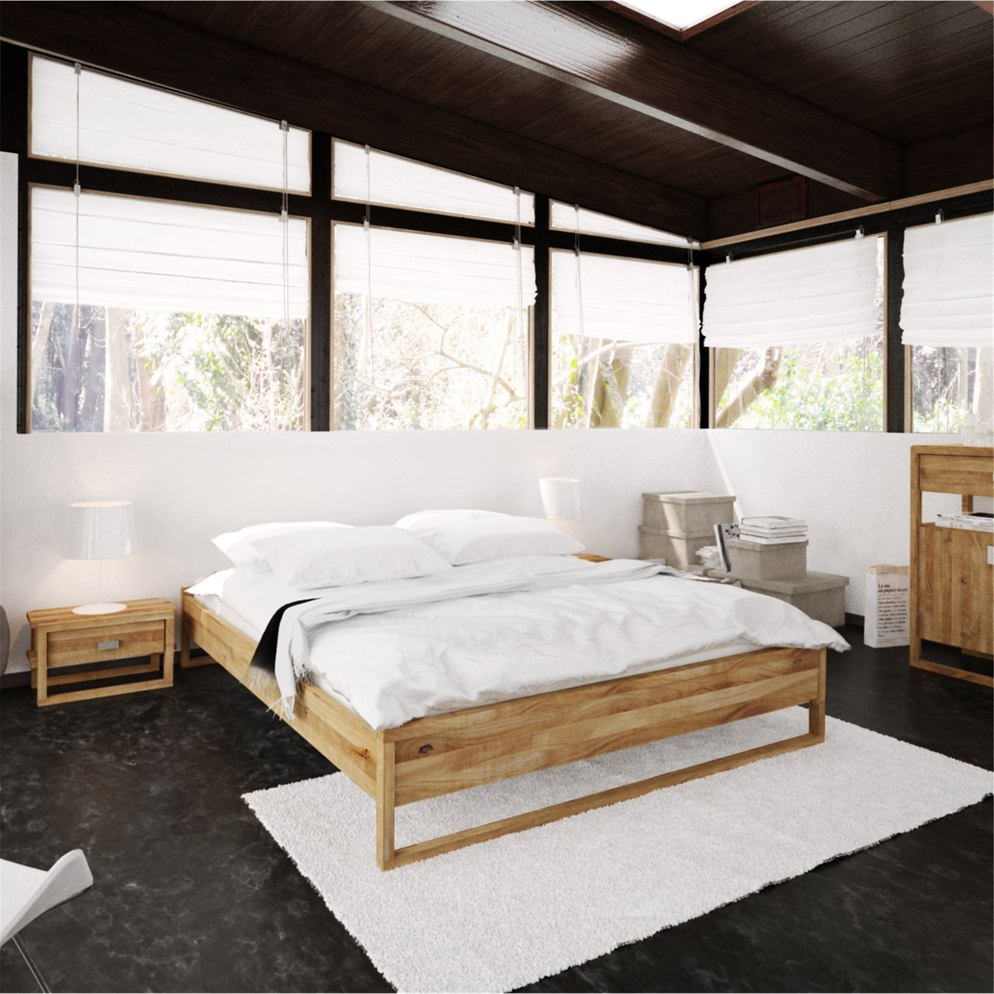 High Bed Frame Minimal High Bed Frame High Beds Bed