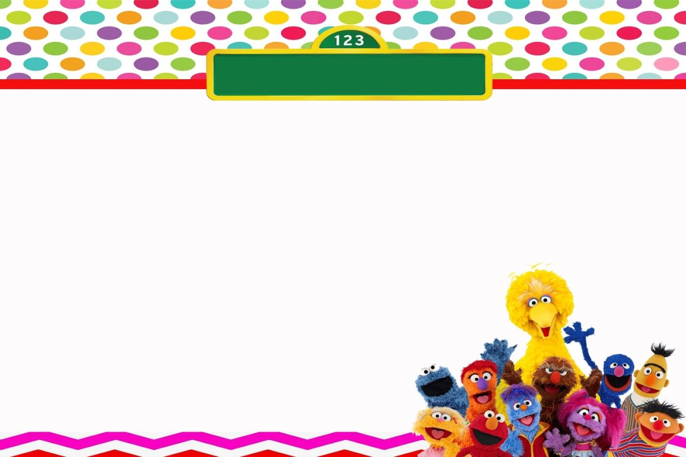 Download FREE Sesame Street Birthday Invitations   FREE Printable ...