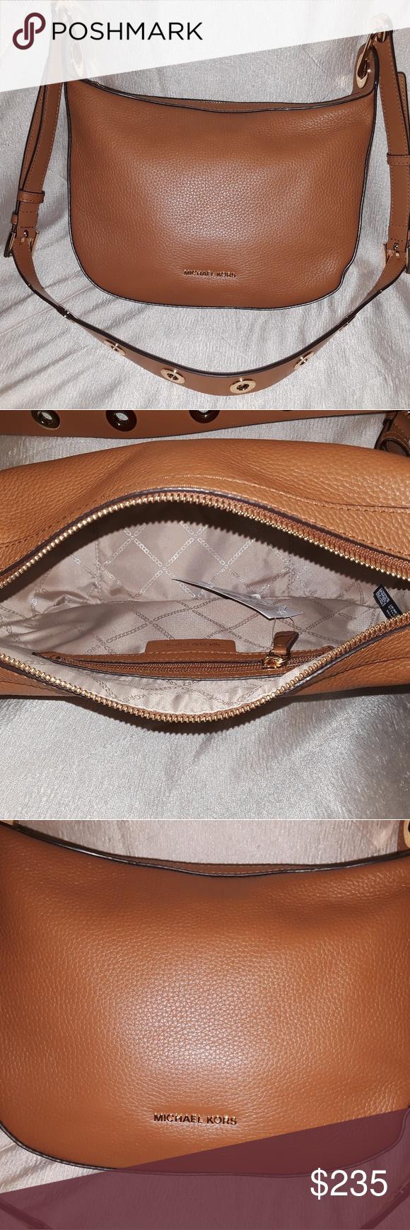 ecf2eba8b7b7 NEW Michael Kors Barlow Medium Leather Crossbody B NEW Michael Kors Barlow  Medium Leather Crossbody Bag