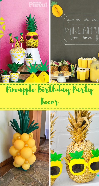 Glitter Pineapple Table Confetti Tropical Beach Party Decor Gift Bag Filler