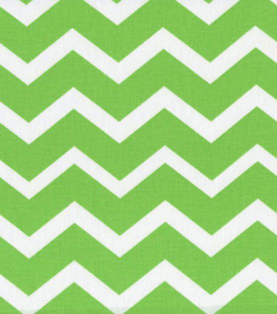 Keepsake Calico Fabric-Green & White Chevron at Joann.com Shade ...