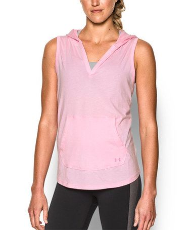 Loving this Petal Pink Sleeveless Hoodie on #zulily! #zulilyfinds