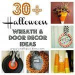 30 Plus Halloween Wreaths and Door Decorations