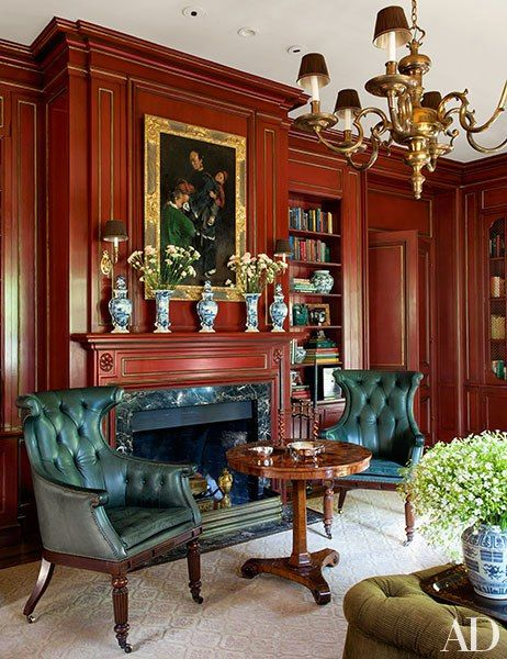 A 1920s Bay Area Residence With Images Red Rooms Classic