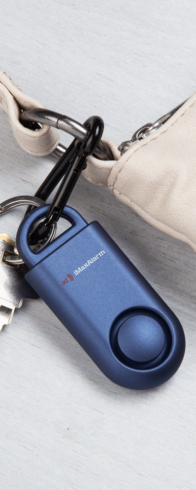 Designed to mimic a key fob, this small keyring alarm is a