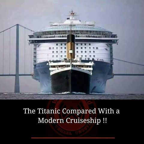 The Titanic Compared To A Modern Cruise Ship Did You Know - Biggest cruise ship ever compared to titanic