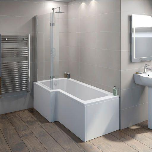 L Shaped Shower Baths Victoria Plumb Shower Bath Bathroom