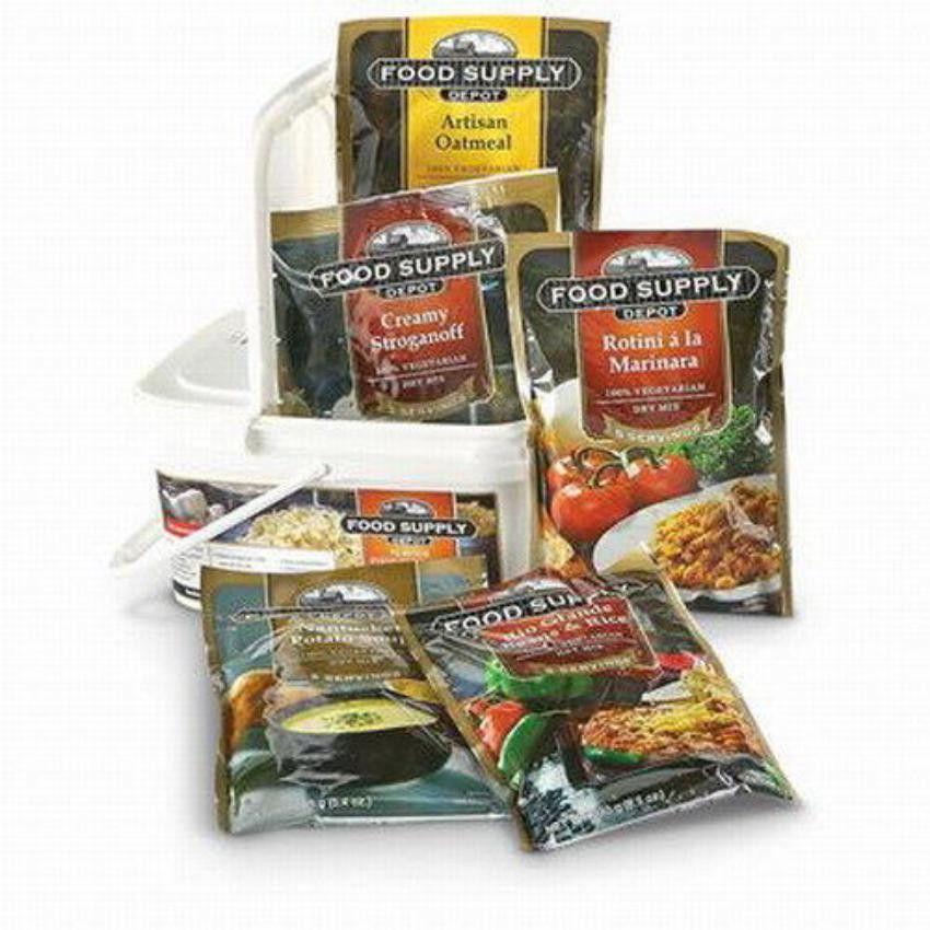 72 Hour Emergency Food Supply Bucket (1 person) (con
