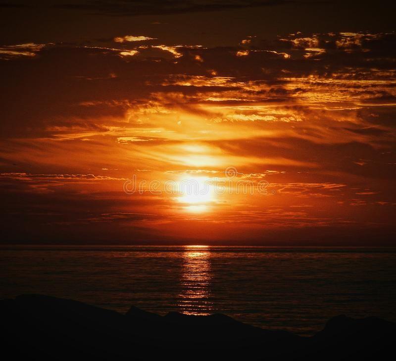 Glowing Sunrise Beautiful Lake Michigan Sunrise Royalty Free Stock Photography Sunrise Beautiful Lakes Beautiful