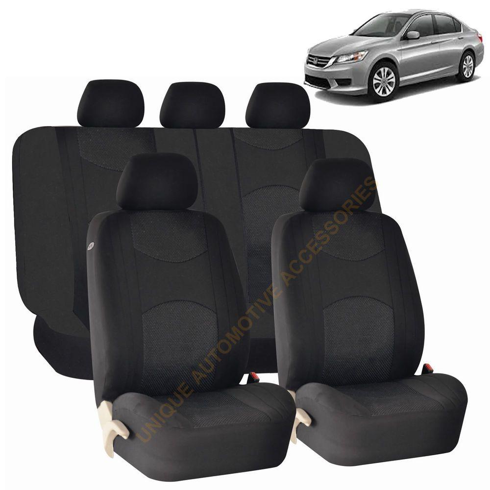 Black Airbag Split Bench Seat Covers 9pc Set For Honda Pilot Bench Seat Covers Honda Pilot Seat Covers