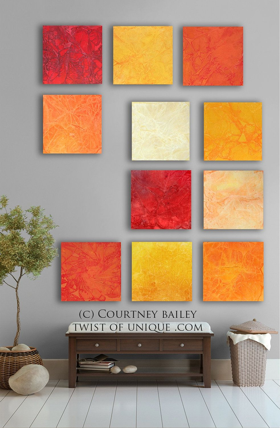 Bright Abstract Art 11 Square Custom Abstract Wall Art Large Abstract Painting Red Orange Yell Bright Abstract Art Abstract Wall Art Abstract Art Painting