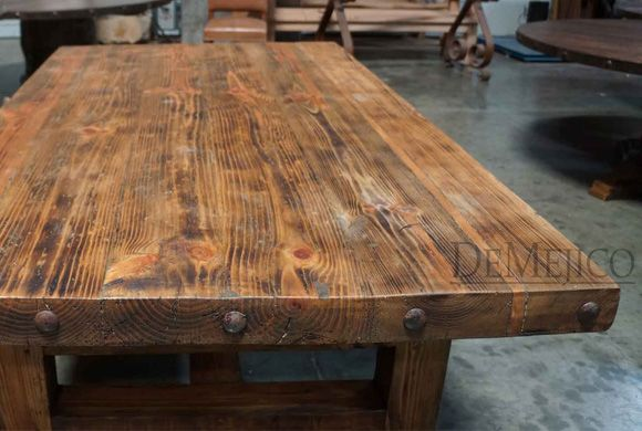 The Chef 39 S Block Old Wood Table Is An Old Wood Table That